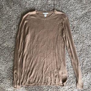 H&M beige/tan crew neck sweater